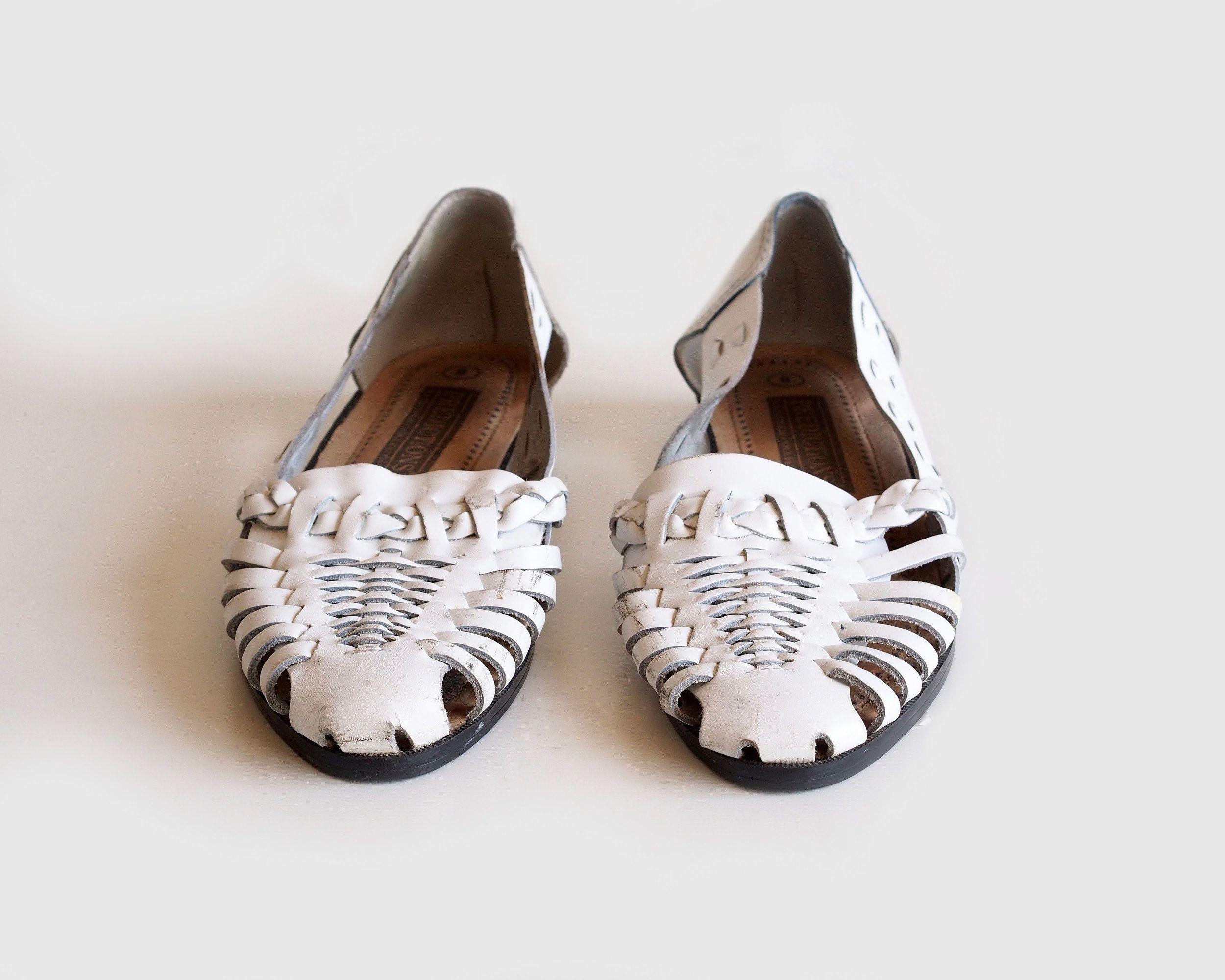 958449caca8a vintage white huarache sandals