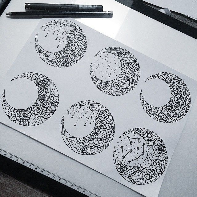 Moon Mandala Art And Tattoo Pinterest Tatuaje Lineas Tatuajes