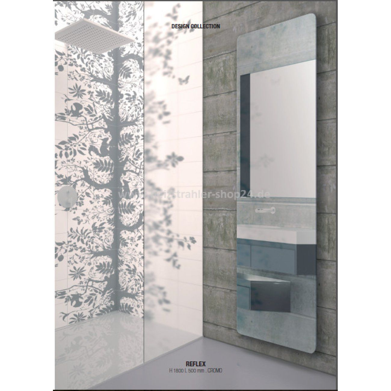 Infrarot Spiegelheizung Von K8 Mit Fernbedienung Fur Das Badezimmer Mirror Infrared Heating By K8 With Remote Co Spiegelheizung Infrarotheizung Heizstrahler