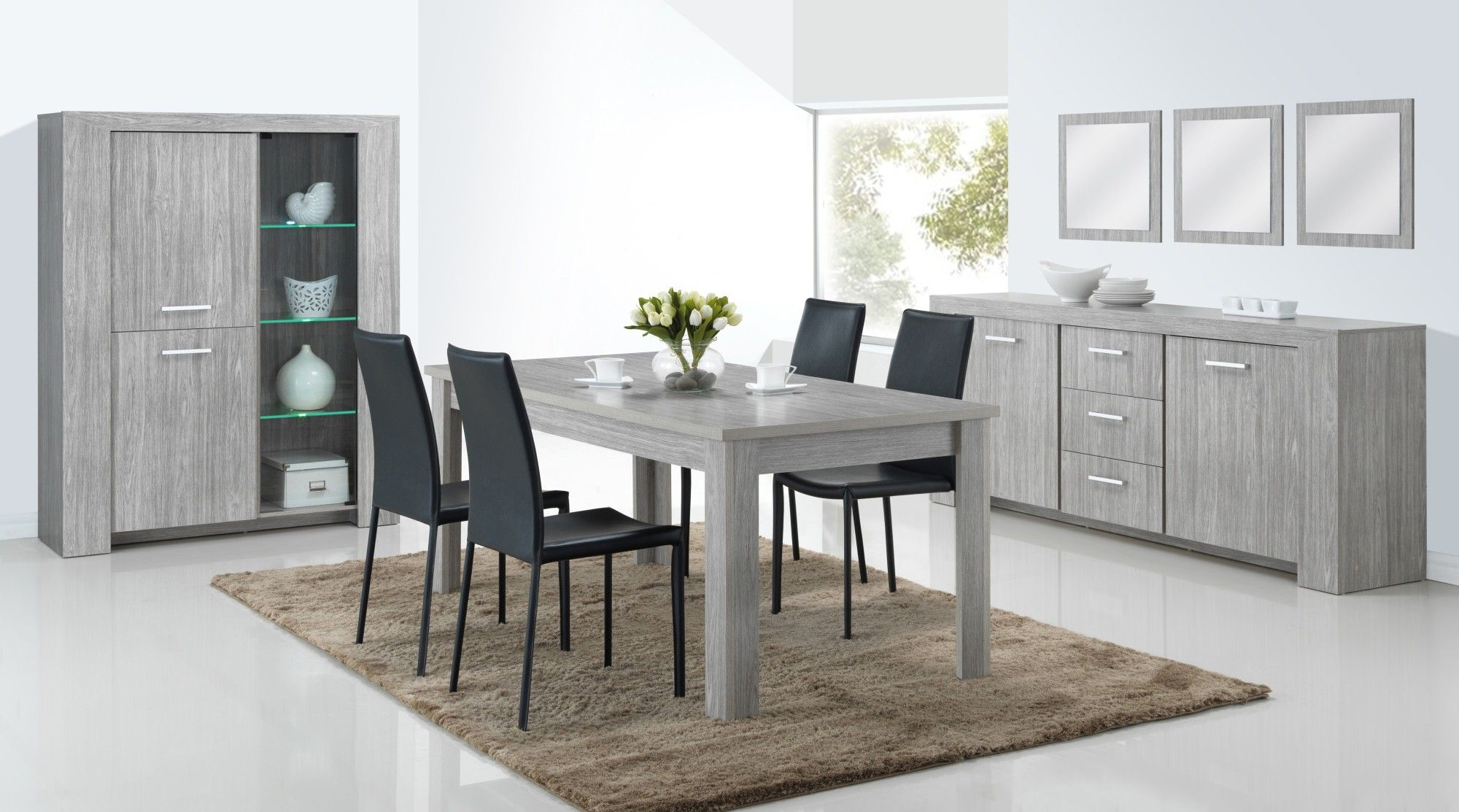 Salle A Manger Contemporaine Chene Gris Paola In 2019 Ikea