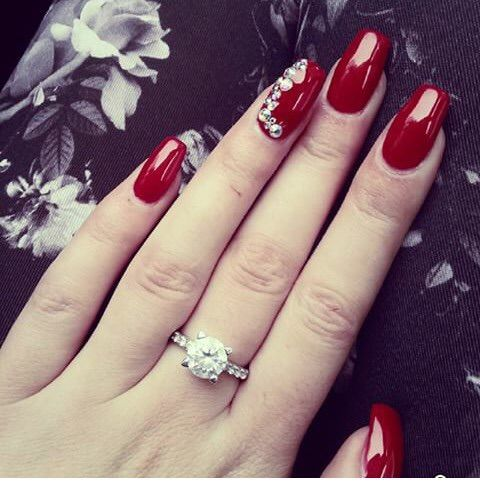 Image via we heart it nails red rednails ring nail art image via we heart it nails red rednails ring prinsesfo Image collections