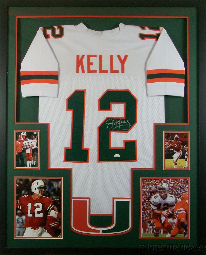 1e7894cb3cb Jim Kelly Framed Jersey Signed JSA COA Autographed Miami Hurricanes Buffalo  B...