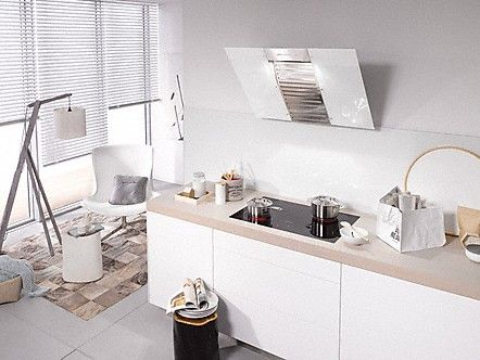 DA 6096 W White Wing Wand-Dunstabzugshaube Brillantweiß - dunstabzugshauben für küchen