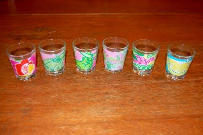 DIY Lilly shot glasses