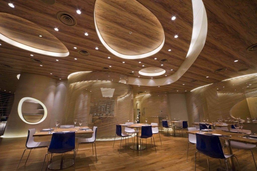 Minimalist Gypsum Ceiling Simple Restaurant Interior Design False Ceiling Design Interior Design Color Schemes