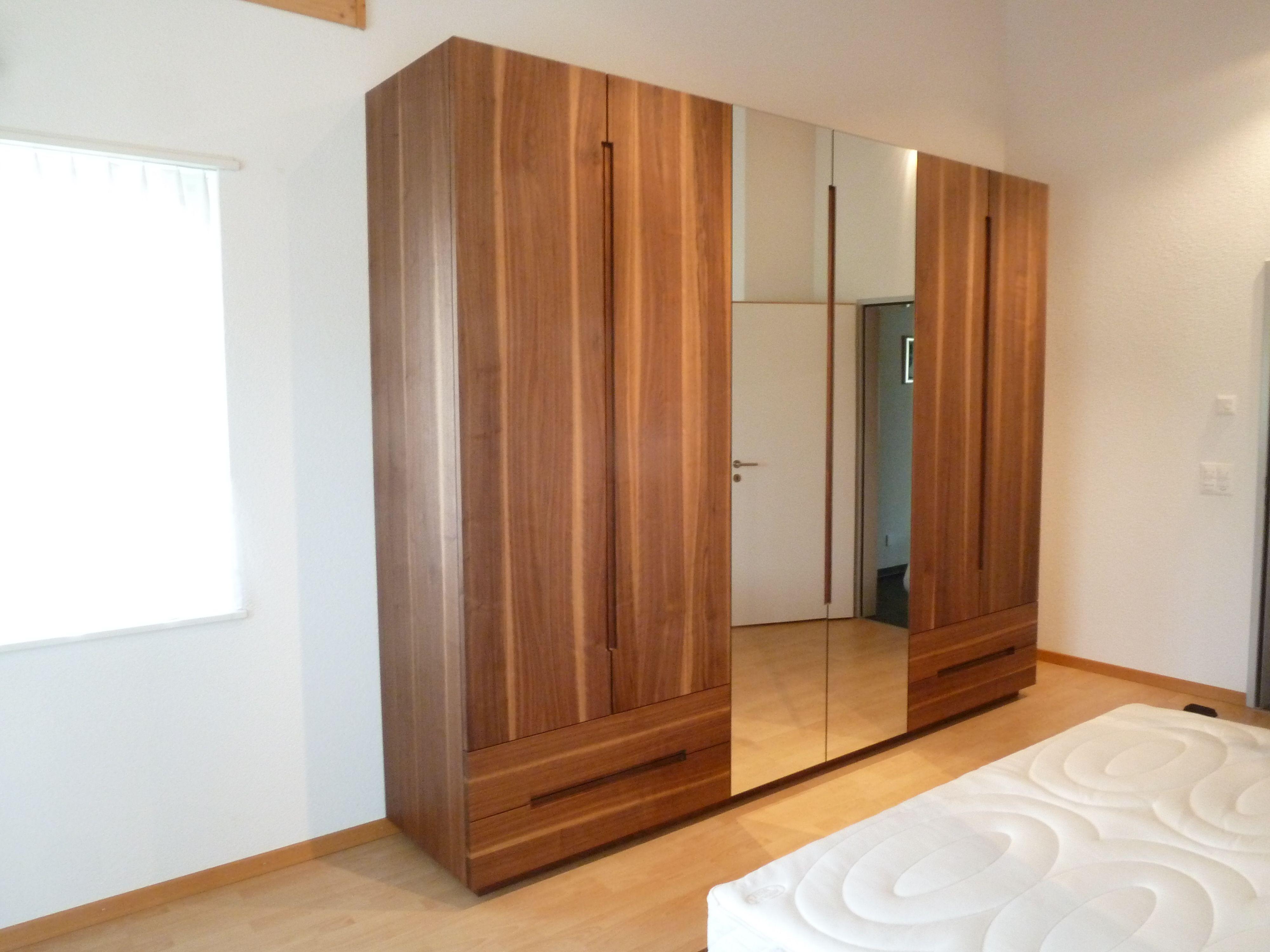 Schrank Nussbaum Schlafzimmer Bett Schlafzimmer Zimmer
