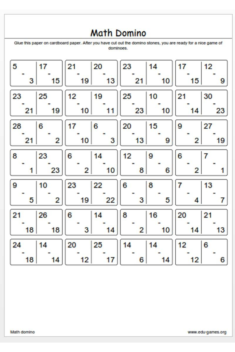 Worksheets Math Intervention Worksheets create a math domino game and download the free pdf worksheet high quality with stones instead of spots on stone there are basic arithmetic problems