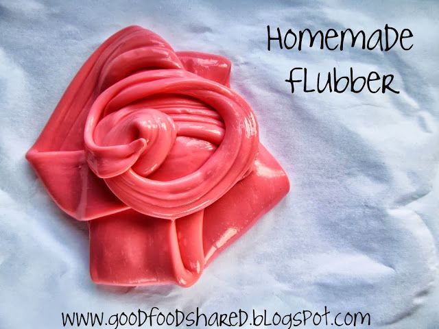 Homemade Flubber, stretch it, squeeze it but most of all enjoy it!