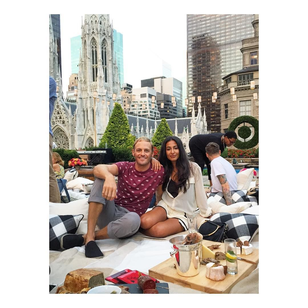 """Nausheen Shah  """"Picnics & Plaid Takeovers make us two very happy exMidwesterners @dailyselfcare…"""""""
