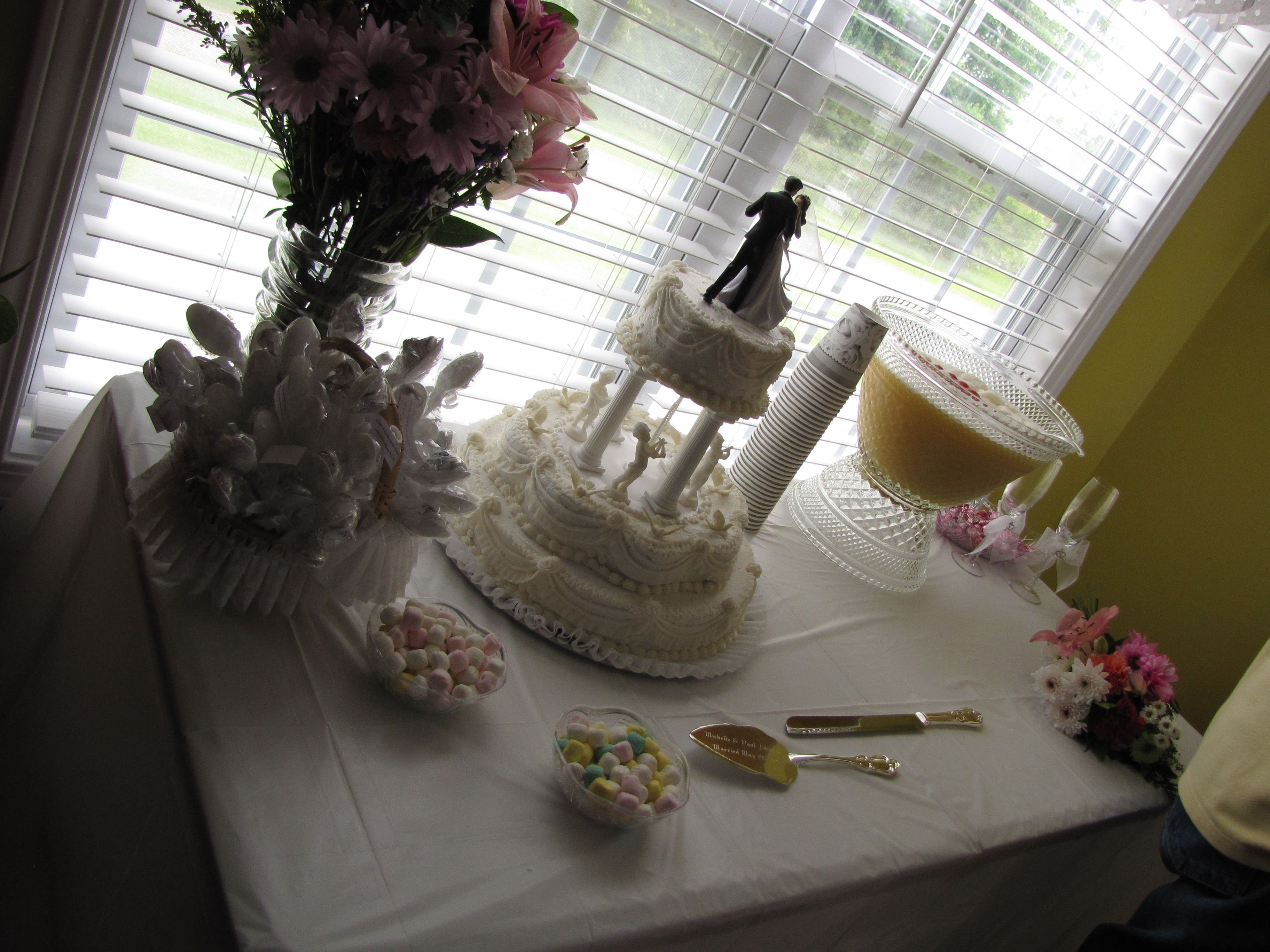 Dessert Punch Table At My Reception Huge Props To My Mom For The