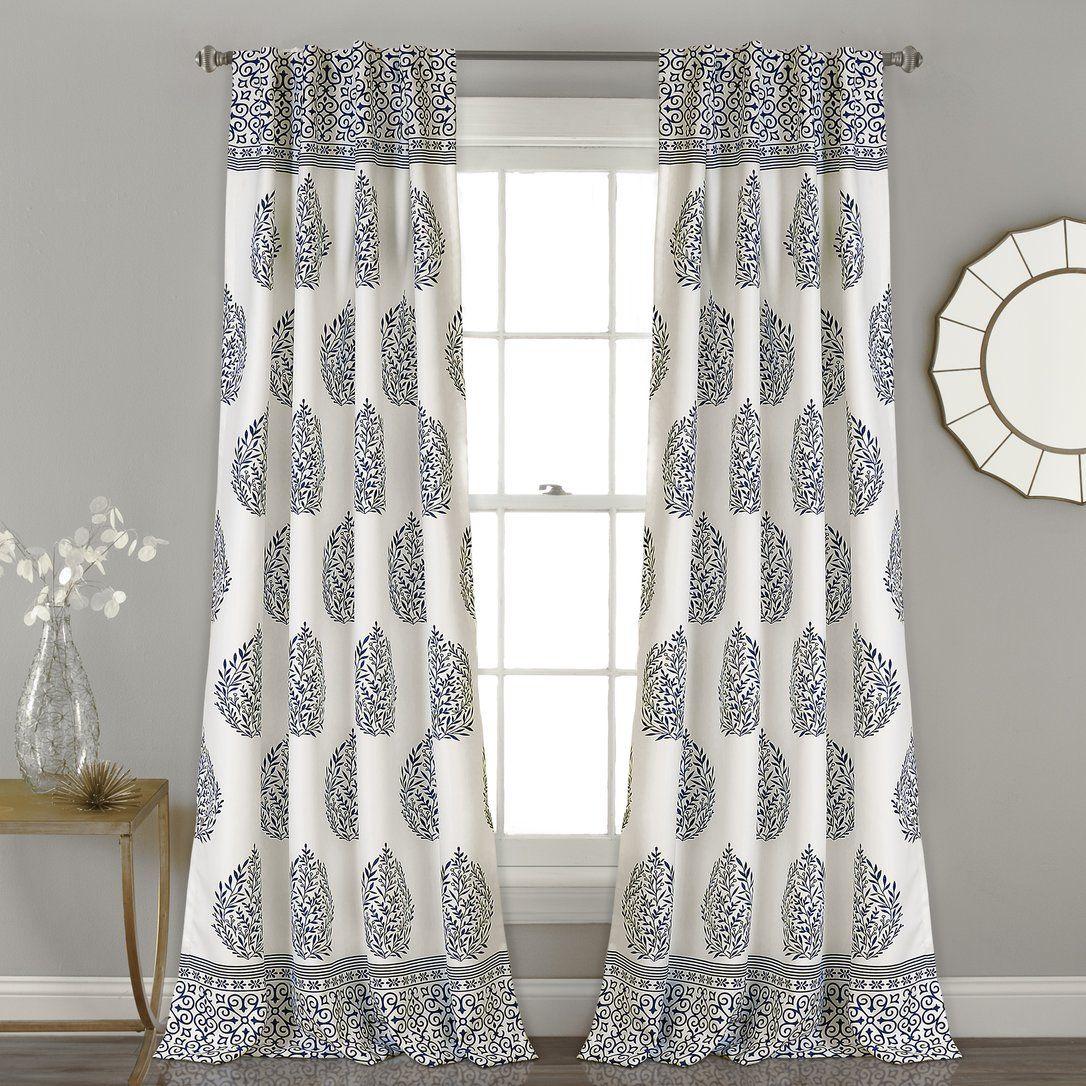 Gray curtains bedroom brocka naturefloral room darkening rod pocket curtain panels set