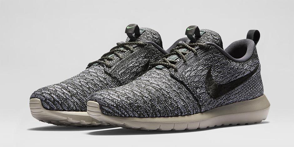 nike roshe grey flyknit men's