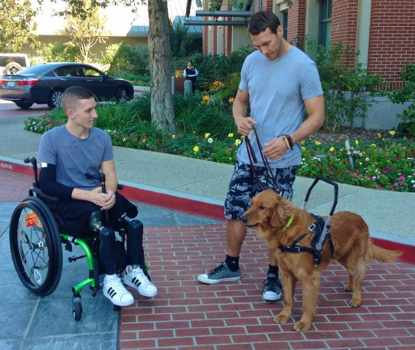 Lucky Dog Star Brandon Mcmillan Also Trains Service Dogs For