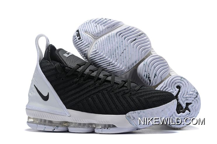 get online later super popular Men's Nike LeBron 16 Black White Basketball Shoes Copuon in 2020 ...