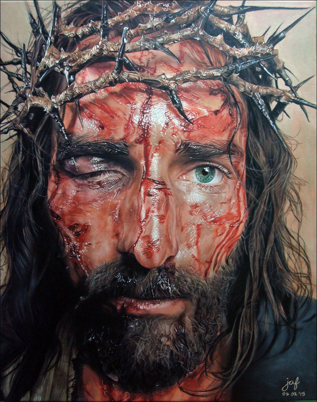 the passion of christ by jaf artwork very intense emotional the passion of christ by jaf artwork very intense emotional she said