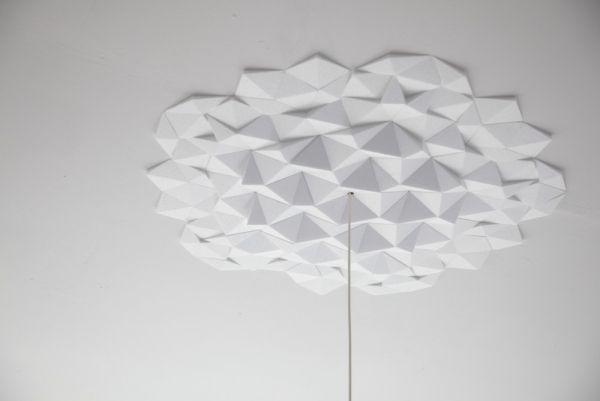 deckengestaltung selbermachen ideen deko geometrische formen ...