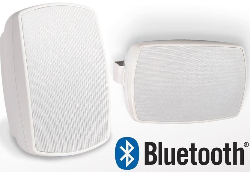 Bluetooth Outdoor Patio Speakers Deck Pool Porch Indoor 75w Premium Sound White Osdaudio Outdoor Bluetooth Speakers Pool Porch Bluetooth