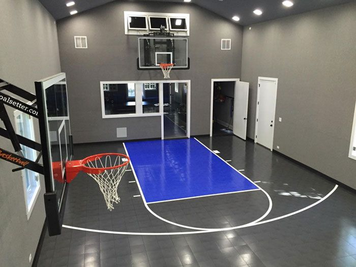 Indoor Home Gym Home Basketball Court Basketball Room Indoor Basketball Court
