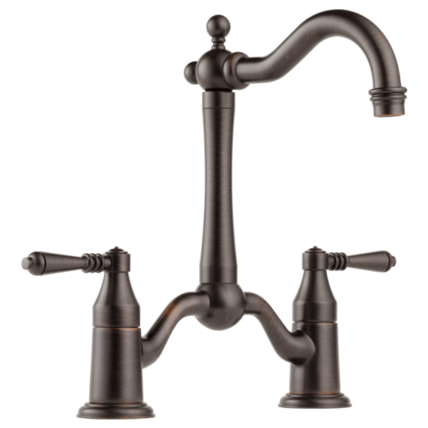 Tresa Two Handle Bridge Prep Faucet Bronze Bar