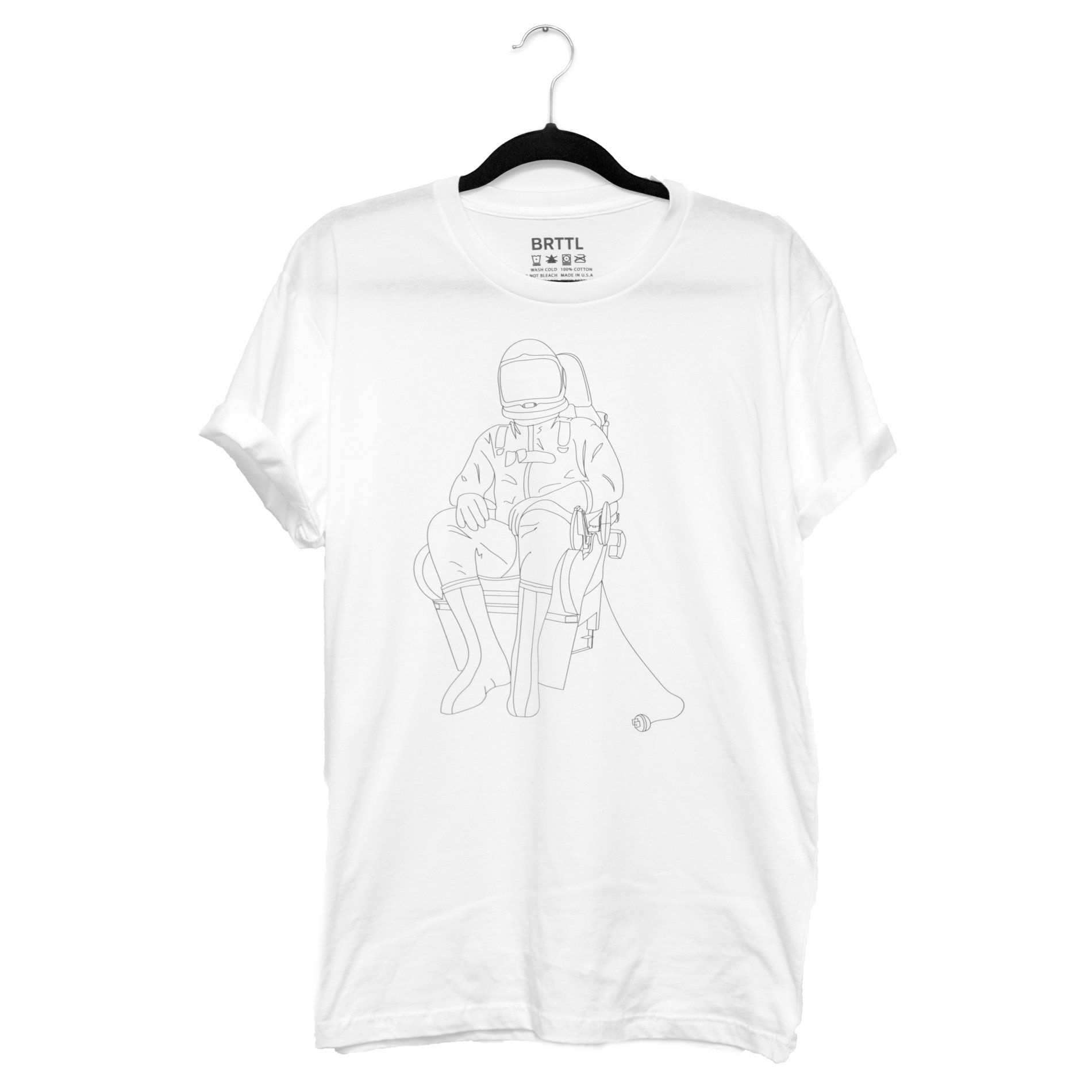 Space Astronaut T Shirt Line Drawing Streetwear Fashion Graphic Heart Printed Circuit Board Tshirts Unisex Triblend Tshirt Unplugged
