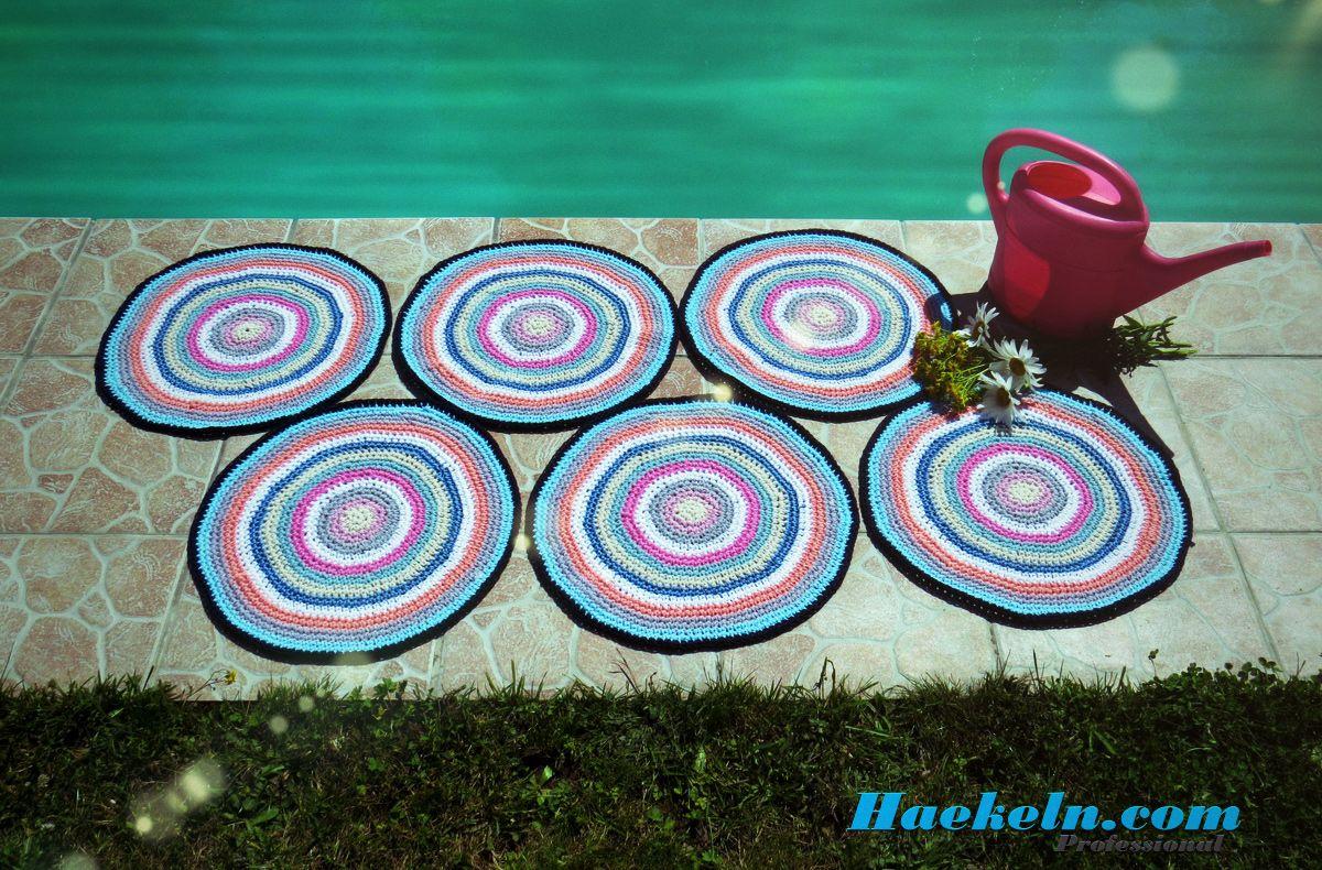 Gehäkelte Teppiche • Kostenlose Häkelanleitung. #häkeln #teppich ...