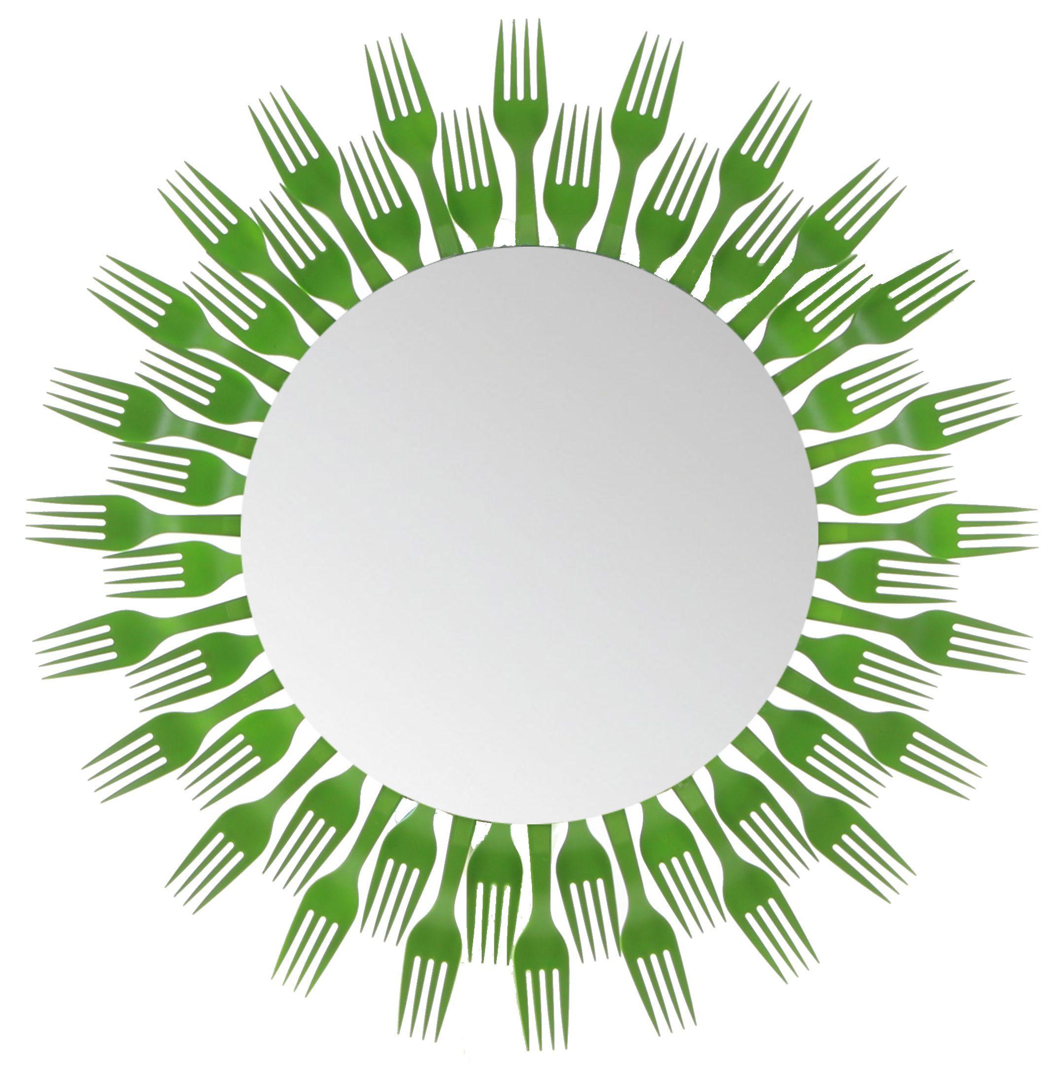Plastic Fork Round Mirror 2 Level