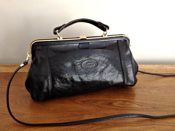 Vintage Oroton Doctor Bag Satchel Black by vintage19something ...