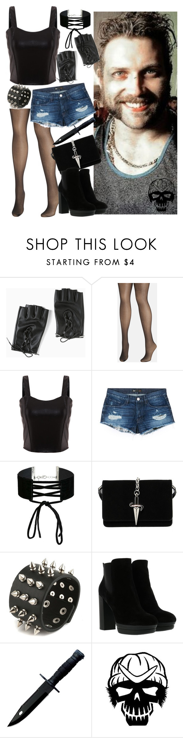 """How you met - Captain Boomerang"" by hitshannahbananah ❤ liked on Polyvore featuring Torrid, Avenue, 3x1, Miss Selfridge, Cesare Paciotti and Hogan"