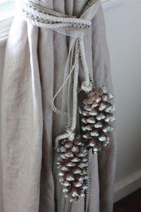 Pine Cone Curtain Ties This Looks Like @Penni Burkum, @Cheri Burkum, And