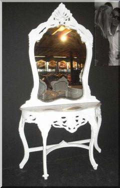 Spiegelkonsole Aus Massivholz Barock Antik Stil Casa Padrino