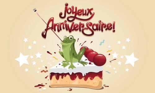 Joyeux Anniversaire grenouille sur le gâteau | Anniversaire grenouille,  Joyeuse anniversaire, Gif joyeux anniversaire