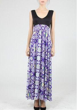 American Print Dress Fashion Beautiful Hot Deep V-Neck Vest Dress