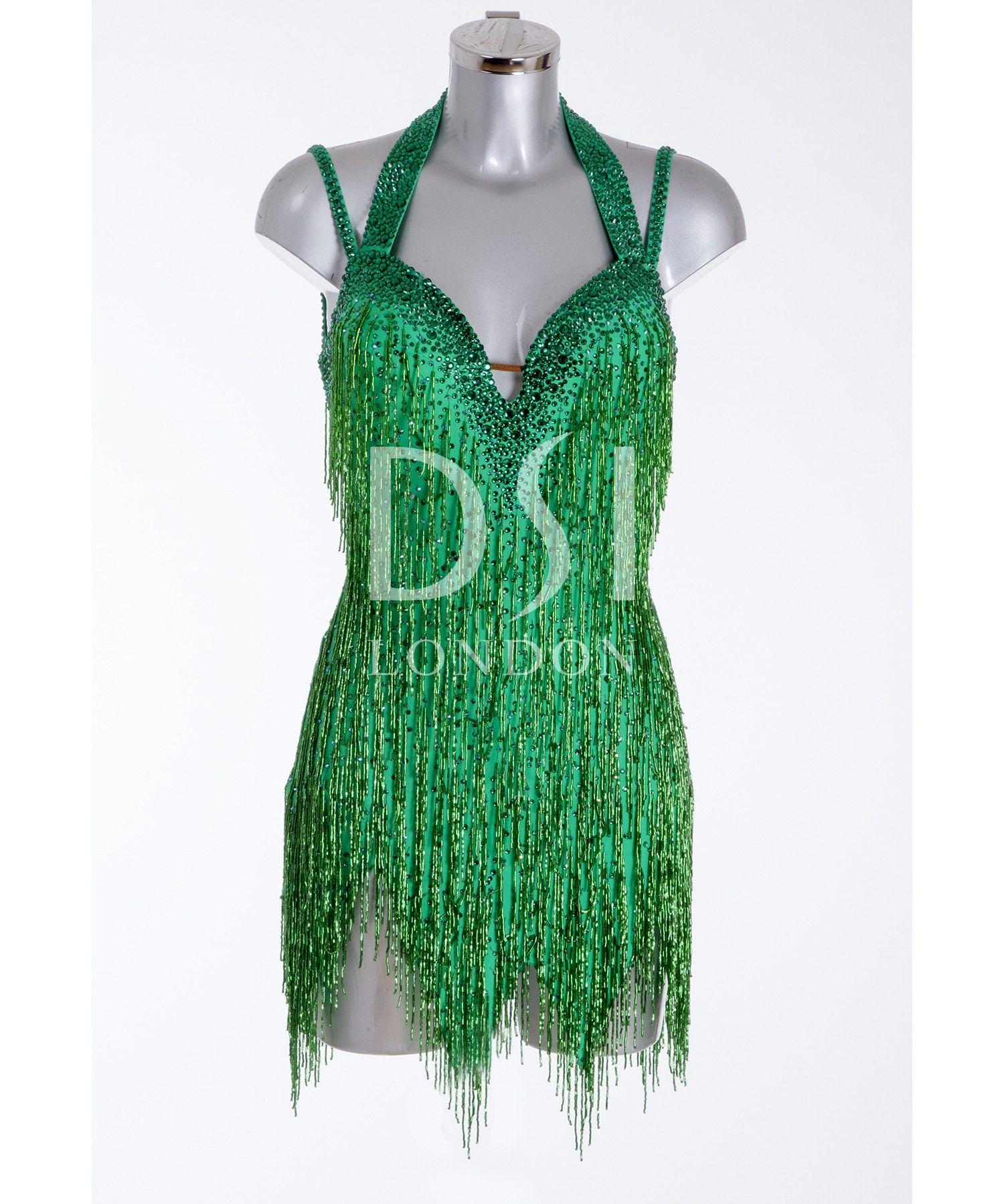 377bcf44e4883 393844 Emerald Latin Dress | Latin dresses for sale | Dance dresses for  sale | Ladies | DSI London
