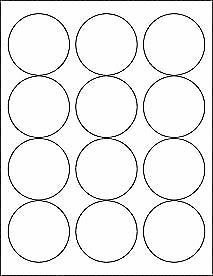6 89 6 sheets 2 1 2 round blank white glossy 72 stickers labels