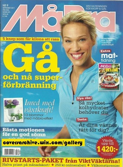 Emma Sjoberg Wiklund Ma Bra magazine cover / Sweden / 2011 september