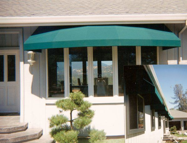Door Awnings Or Canopies Are Protecting Roof Like Coverings For