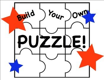 Free Blank 9 Piece Puzzle Template For Personal Or Commercial Use