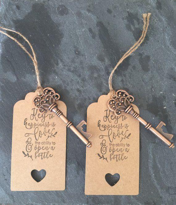 20 pcs Vintage Style Key Shaped Pendants Bottle Opener Wedding Party Gift