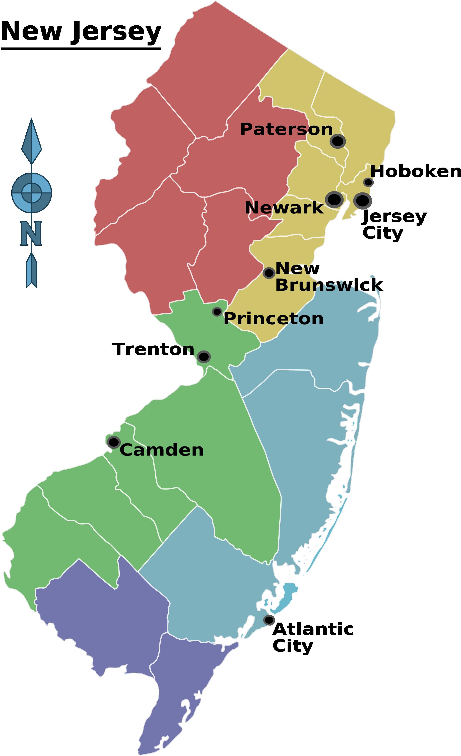 Caldwell New Jersey Map.New Jersey Regions Map Paddle South Orange Nj Orange Nj East