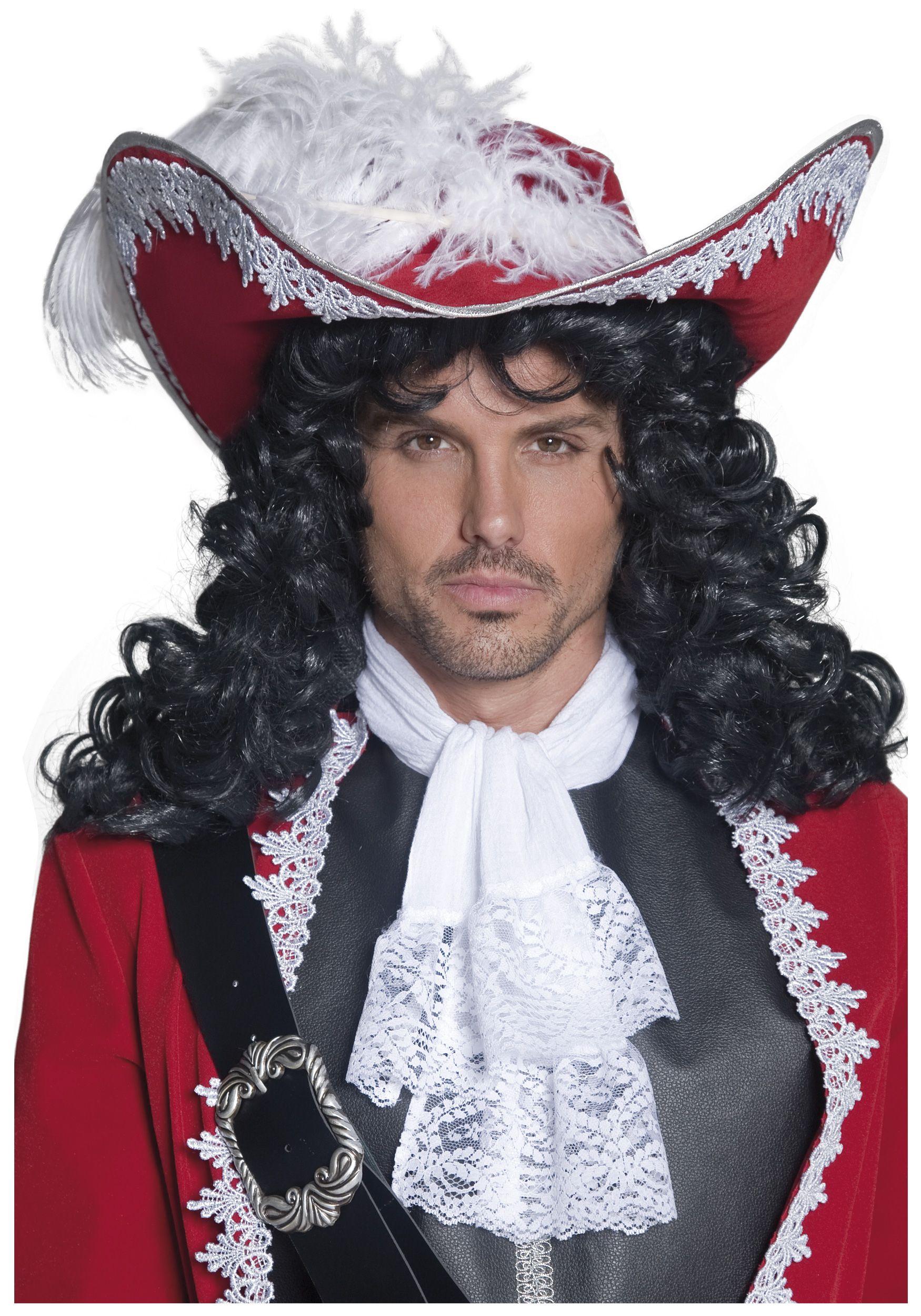Pirate-Buccaneer-Muscateer-Captain Hook WIG /& MOUSTACHE SET