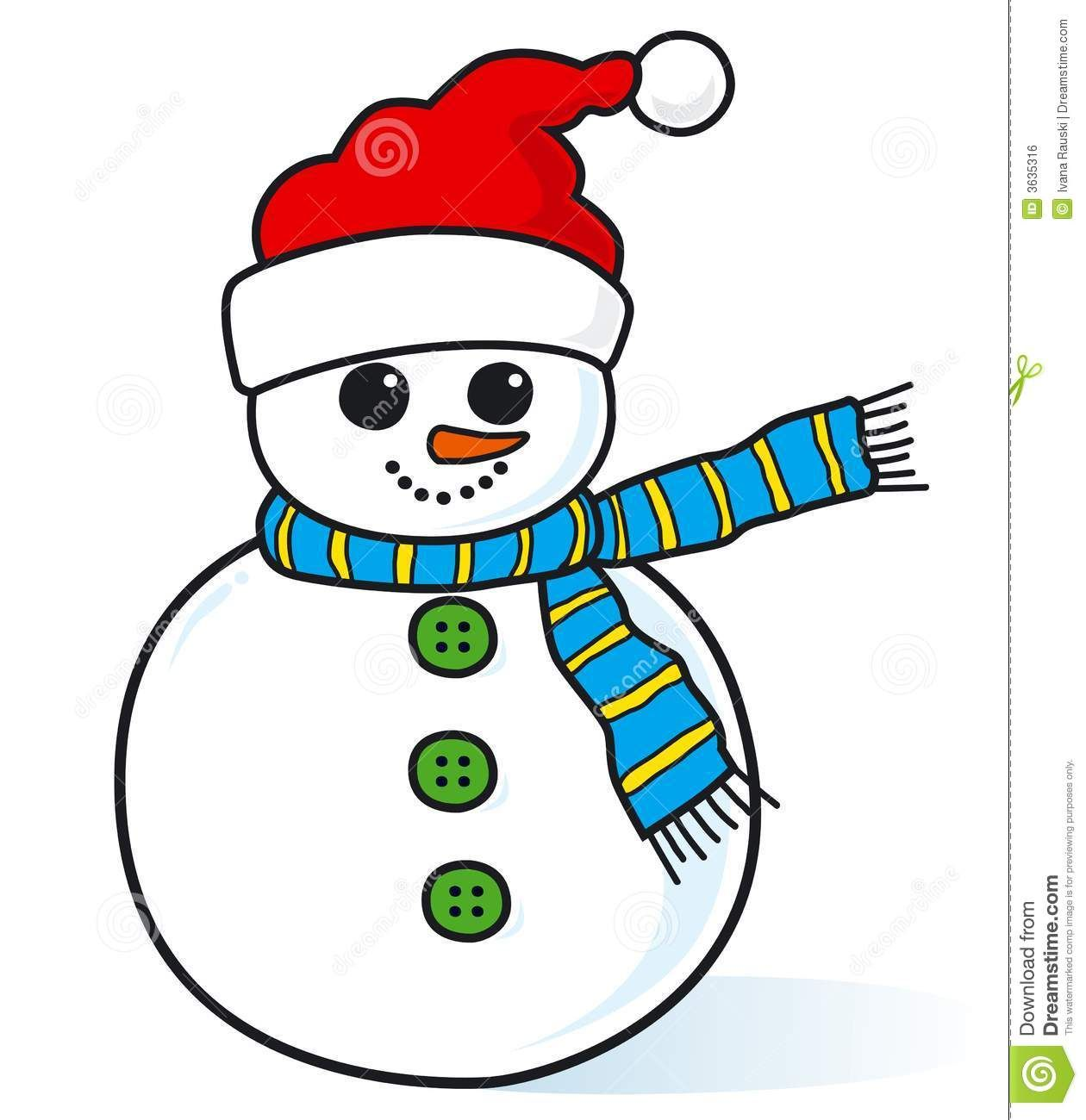 Small Country Snowman Clipart