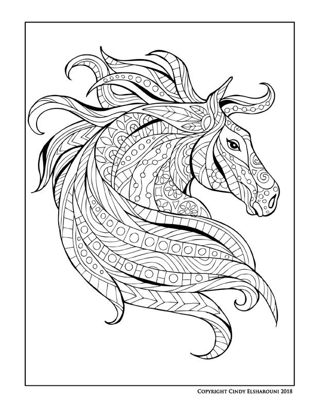 New Horse Coloring Book Filled With Horses Unicorns Pegasus Everything Equine In This Book Very C Horse Coloring Pages Animal Coloring Pages Horse Coloring