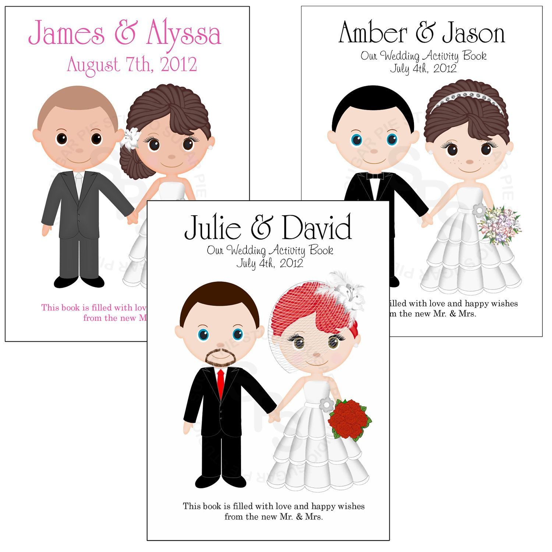 - Printable Personalized Custom 8.5x 5.5 Wedding Favor Kids Coloring