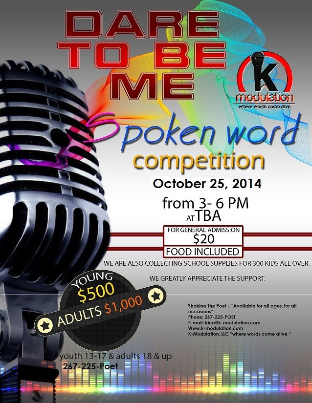 Updated Flyer For 2014 Spoken Word Competition Shakina The Poet