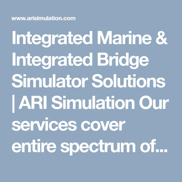 Integrated Marine & Integrated Bridge Simulator Solutions | ARI