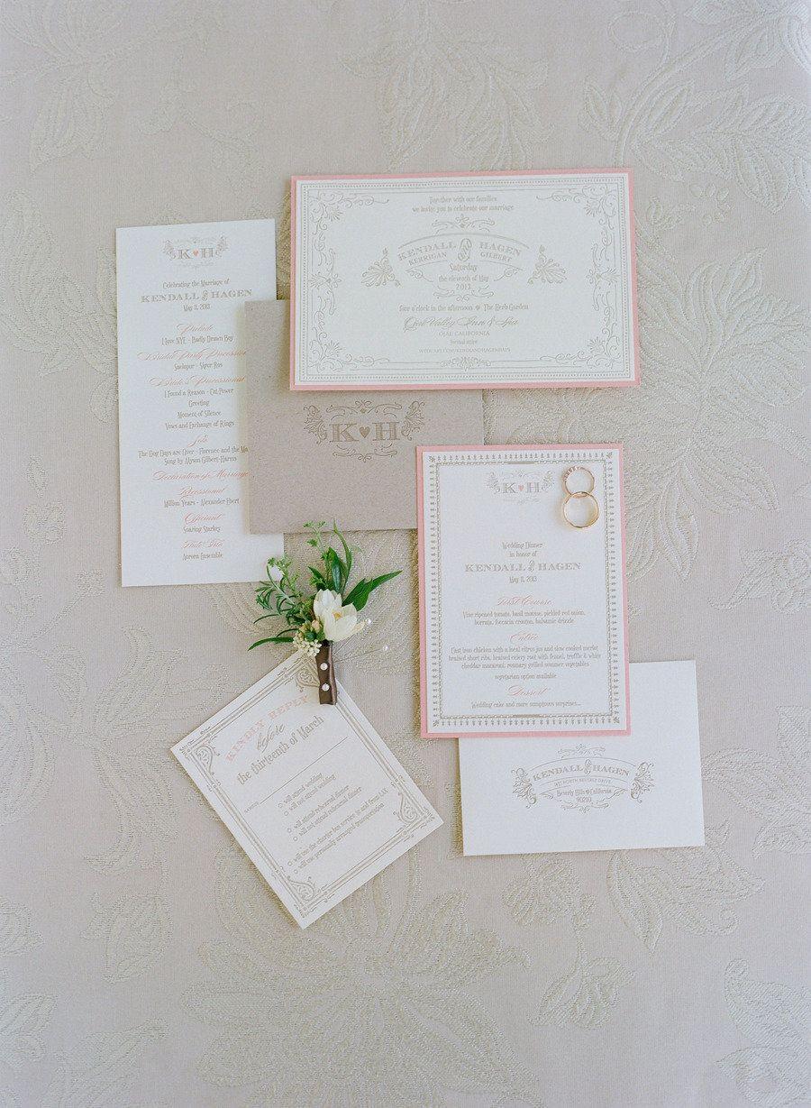Soft and ultra feminine wedding #invitations #stationery #papergoods | Photography: elizabethmessina.com | Wedding Design: merrylbrownevents.com | Floral Design: mindyrice.com