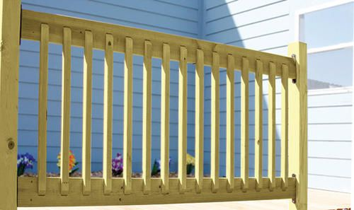 Best 34 X 72 Ac2 Preassembled Rail Wood Railing Lake House 400 x 300