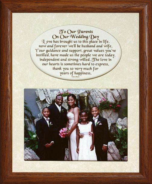 8x10 To Our PARENTS On Our WEDDING DAY ~ Photo & Poetry Frame w ...