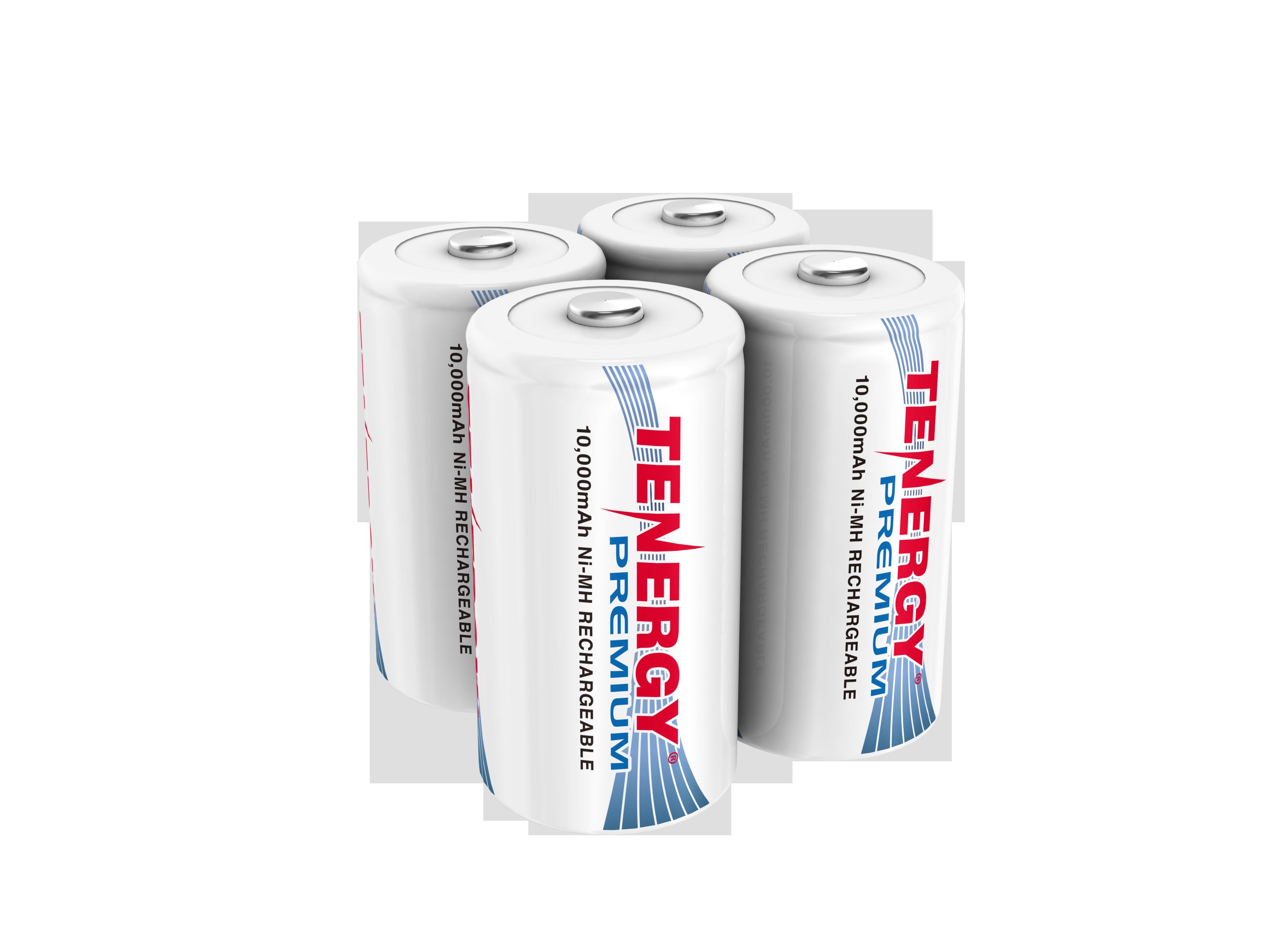 Combo 4pcs Tenergy Premium D 10 000mah Nimh Rechargeable Batteries Rechargeable Batteries Nimh Batteries