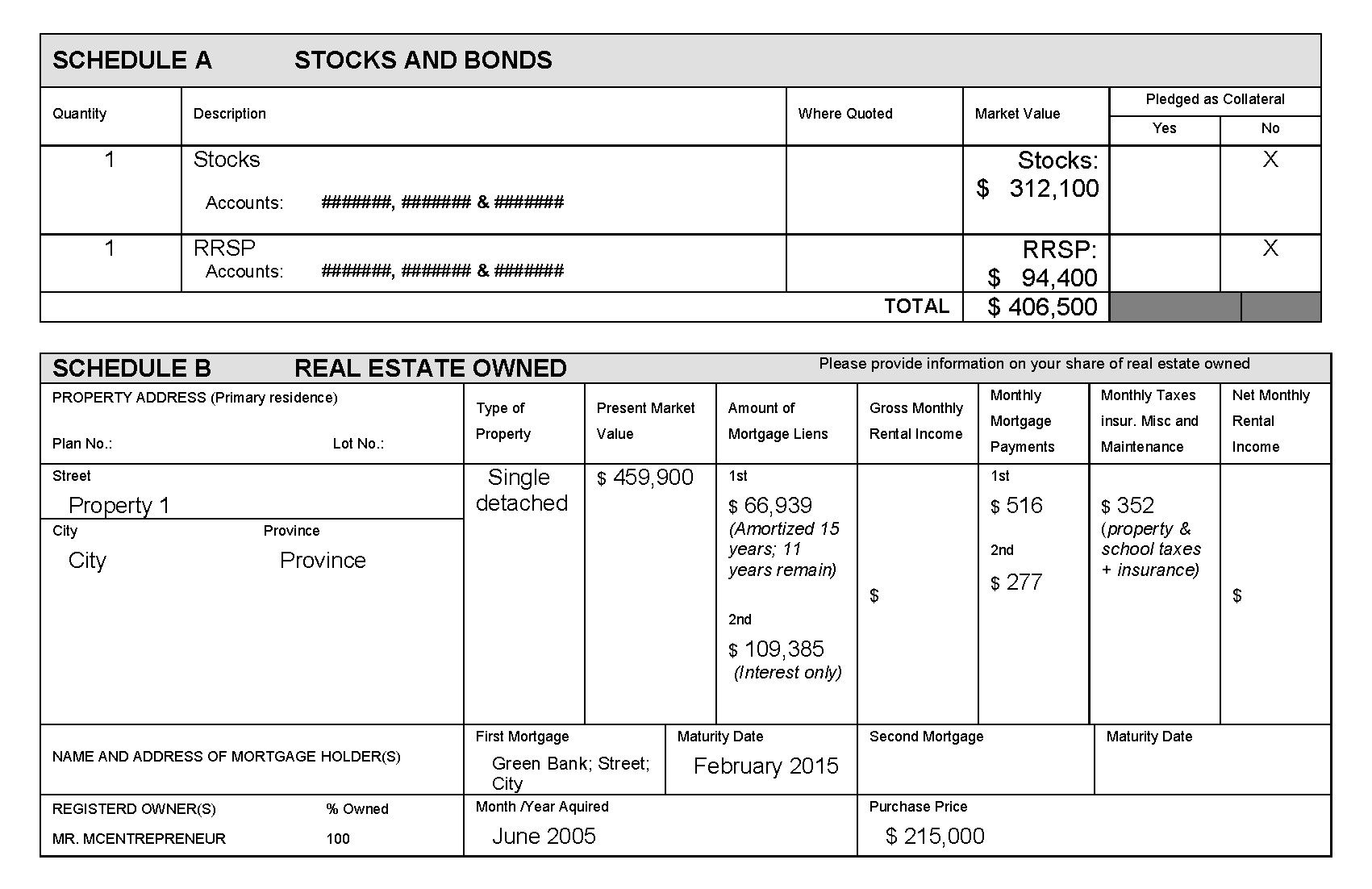 28 Statement Of Net Worth Template In